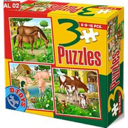 Cavalli, i maiali, le mucche - PUZZLE PER BAMBINI