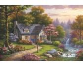 Casa vicino alla cascata