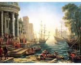 Porto marino con l'imbarco di sant'Orsola