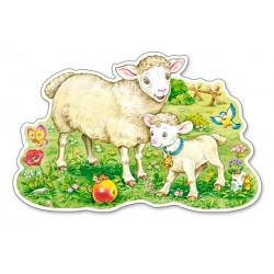 Pecore sul prato - PUZZLE PER BAMBINI