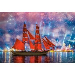 Barca a vela rossa