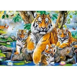 Tigri al laghetto - PUZZLE PER BAMBINI