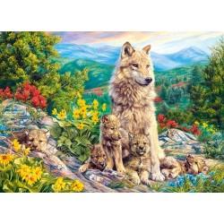 Famiglia di lupi - PUZZLE PER BAMBINI