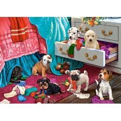 Cuccioli nella camera da letto - PUZZLE PER BAMBINI