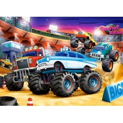 Monster truck show - PUZZLE PER BAMBINI