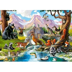 Animali della foresta - PUZZLE PER BAMBINI