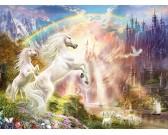 Unicorni durante il tramonto
