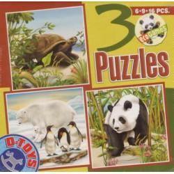Tartaruga, Orso bianco, Panda - PUZZL PER BAMBINI
