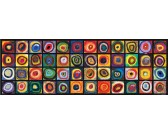Studio colori dei quadrati - PUZZLE PANORAMICO