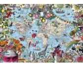 Mappa del mondo esotica