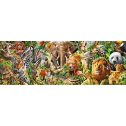Africa selvaggia - PUZZLE PANORAMICO