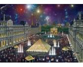 Fuochi d'artificio sul Louvre