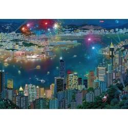 Fuochi d'artificio su Hong Kong