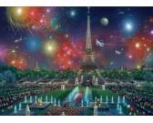 La Torre Eiffel con fuochi d´artificio