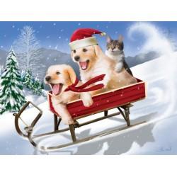 Cuccioli in inverno - XXL PUZZLE