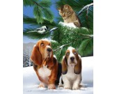 Cani sulla neve - XXL PUZZLE