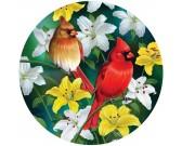 Uccelli rossi - PUZZLE CIRCOLARE