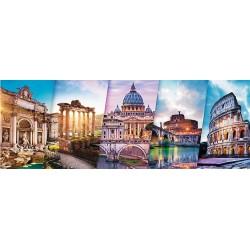 Roma - collage - PUZZLE PANORAMICO