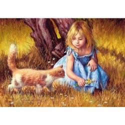 Ragazza con il gatto